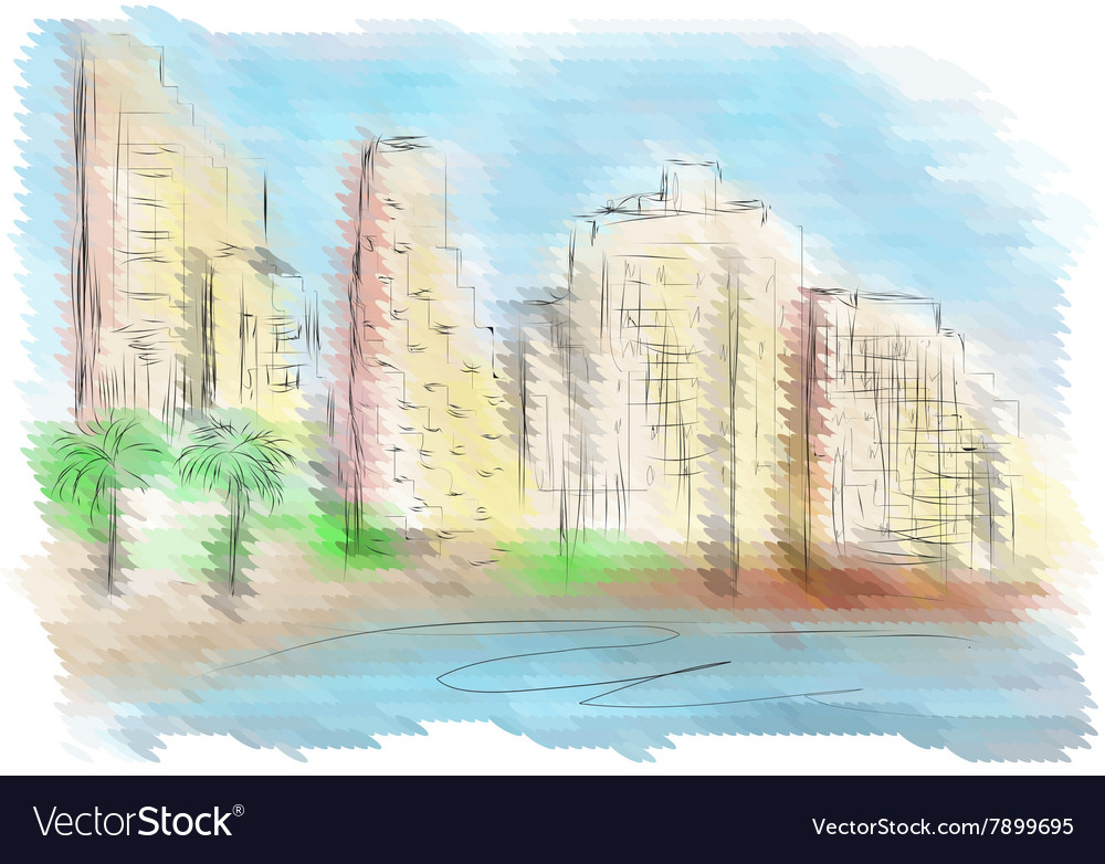 Tel Aviv vector image