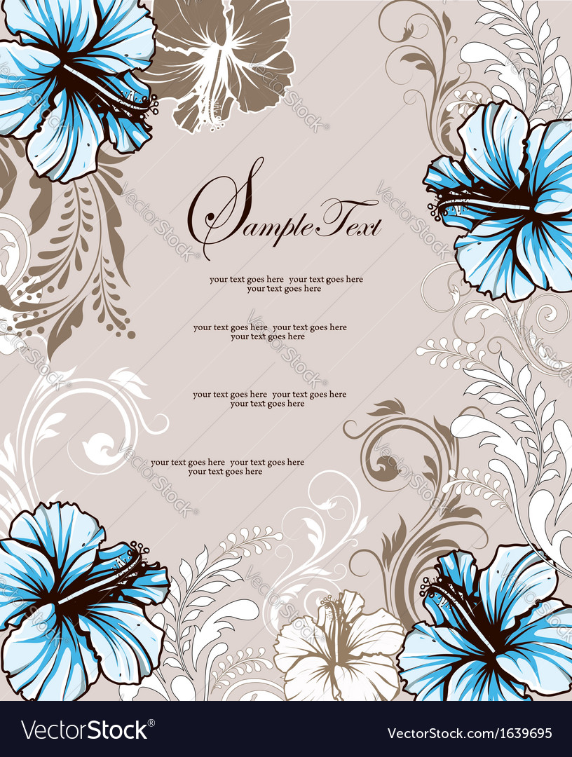 Wedding Card With Floral Background