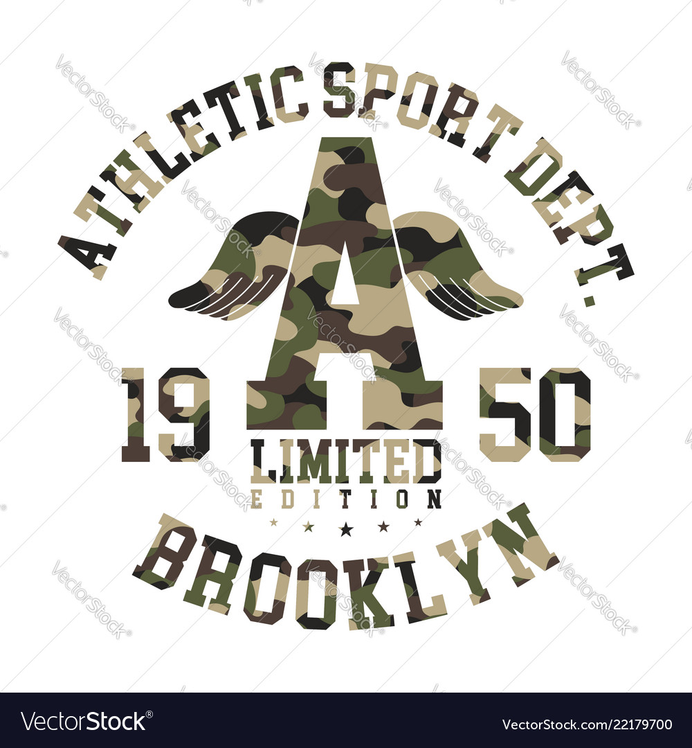 Camouflage t-shirt design athletic cute shirt