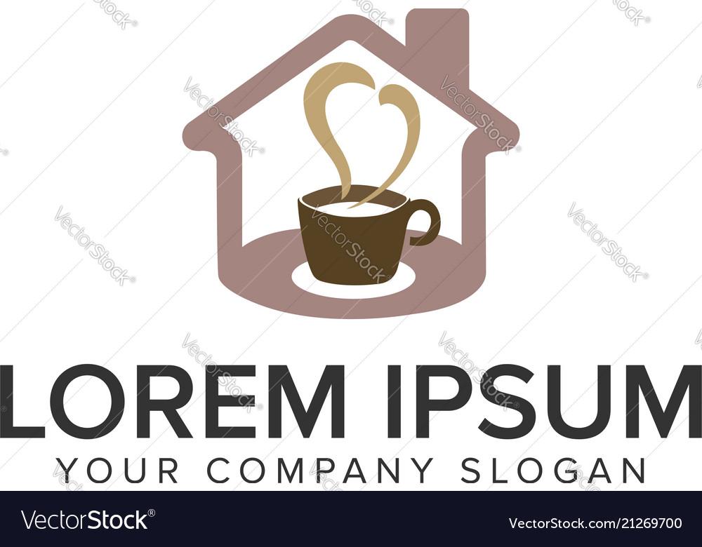 Coffe house logo design concept template