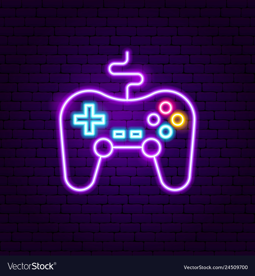 Game console neon sign