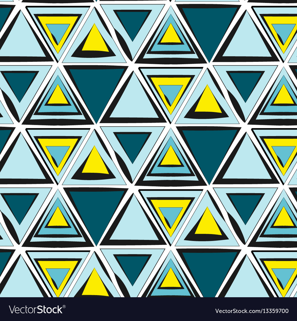 Green blue yellow tribal pattern abstract