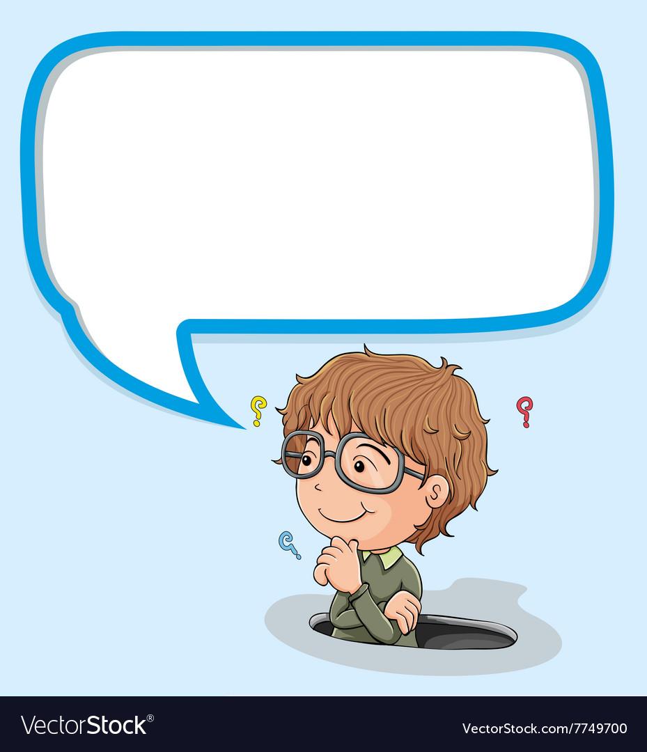 Little boy with speech bubble
