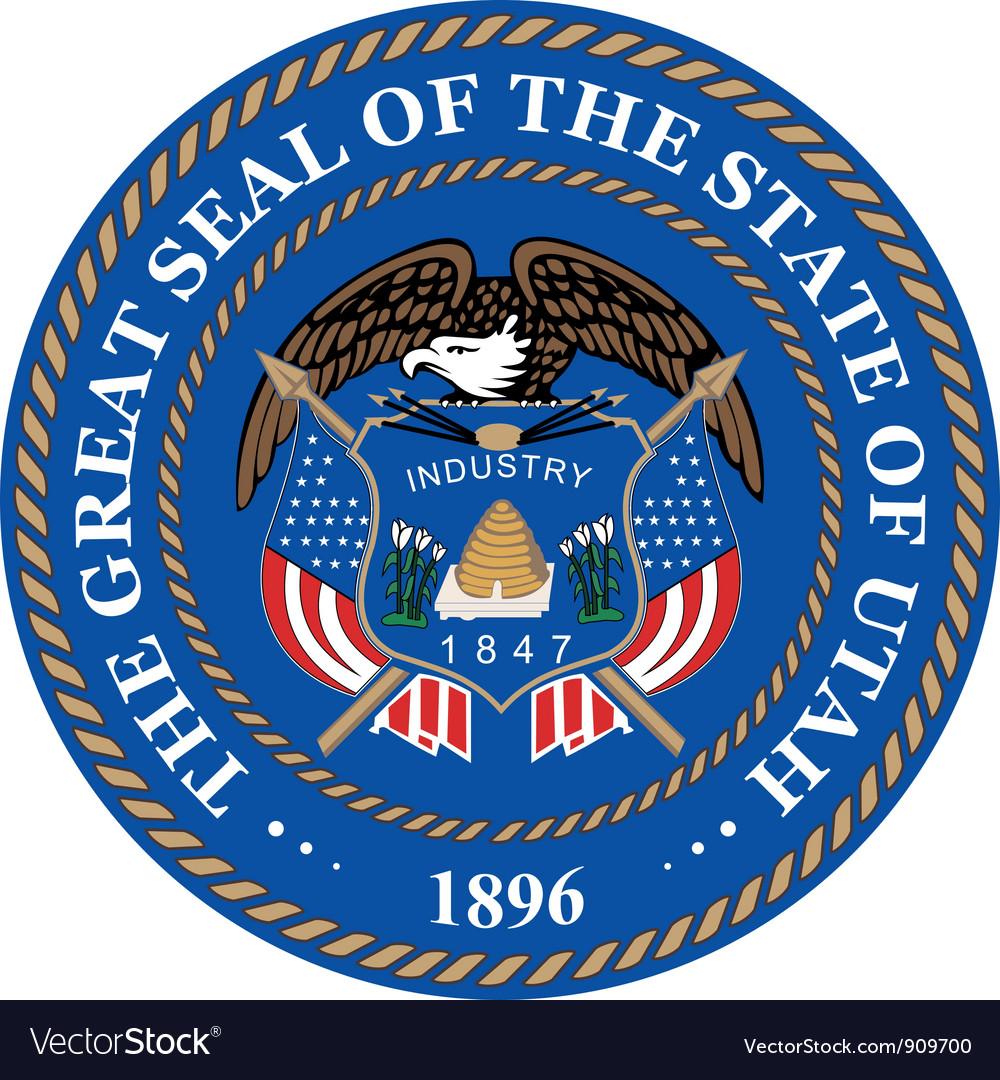 Utah seal vector image