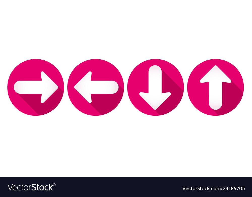 Arrow icons set flat design