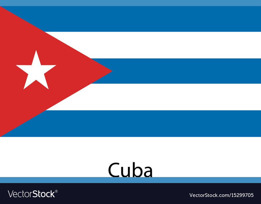 Great Cuba Flag Vector Image