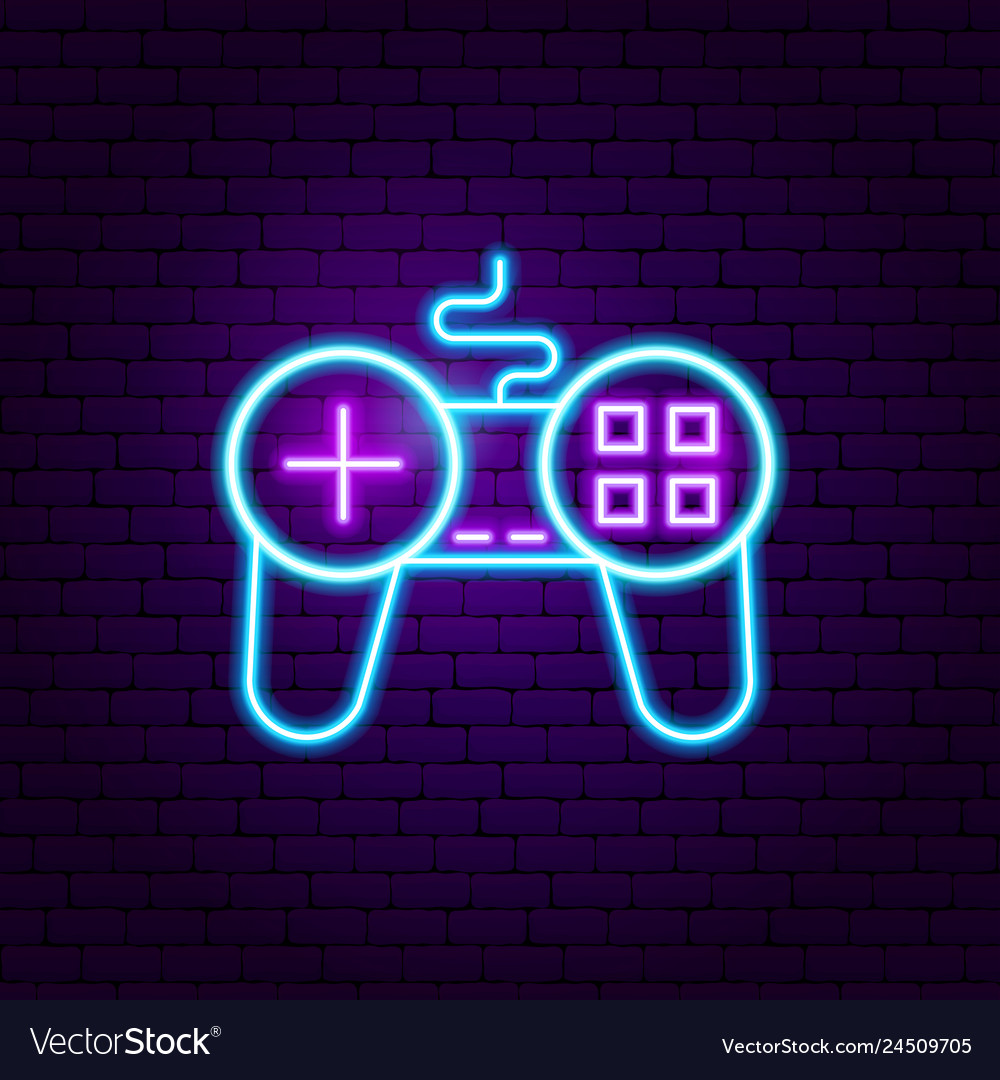 Game play neon sign