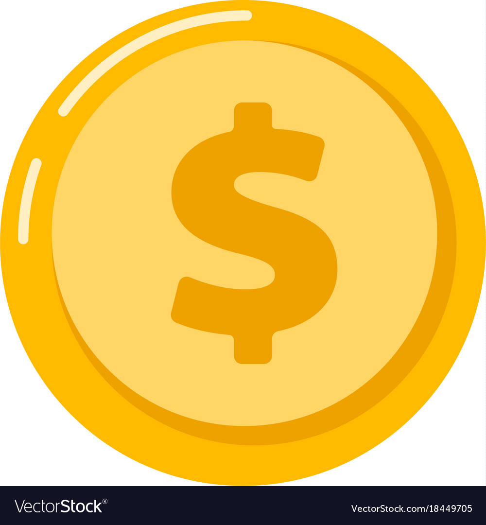 gold coin with dollar sign royalty free vector image rh vectorstock com dollar sign vector illustrator dollar sign vector free
