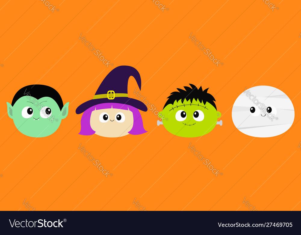 Happy halloween vampire count dracula mummy