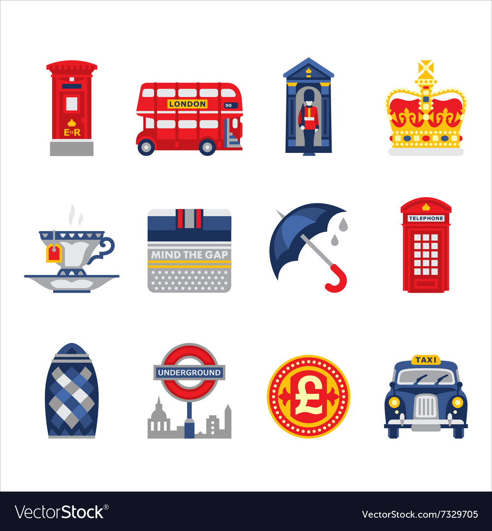 London and England Icon Set