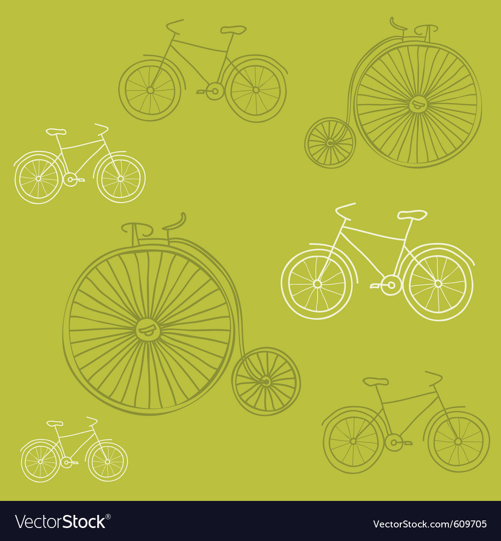 Seamless background with retro bicycles - for desi