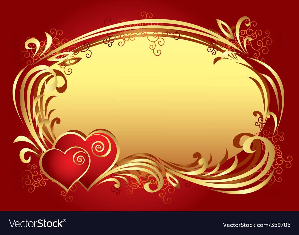 Valentine frame background v vector image