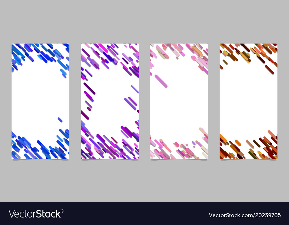 Vertical banner template set with colored