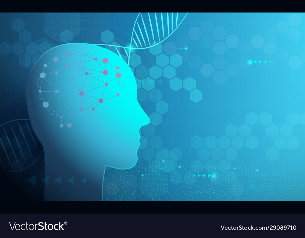 Abstract technology science and dna human