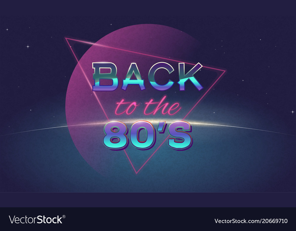 Back to 80s poster
