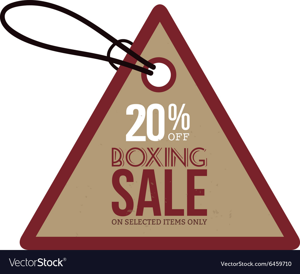 Boxing sale label vector image
