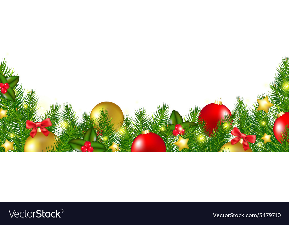 christmas border with holly berry royalty free vector image