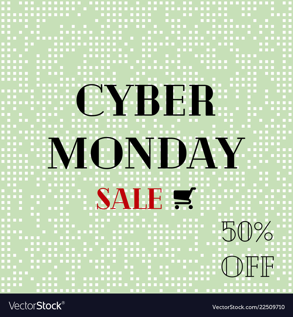 Cyber monday sale sale poster with shopping cart