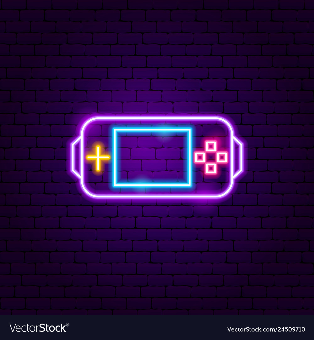 Gamer console neon sign