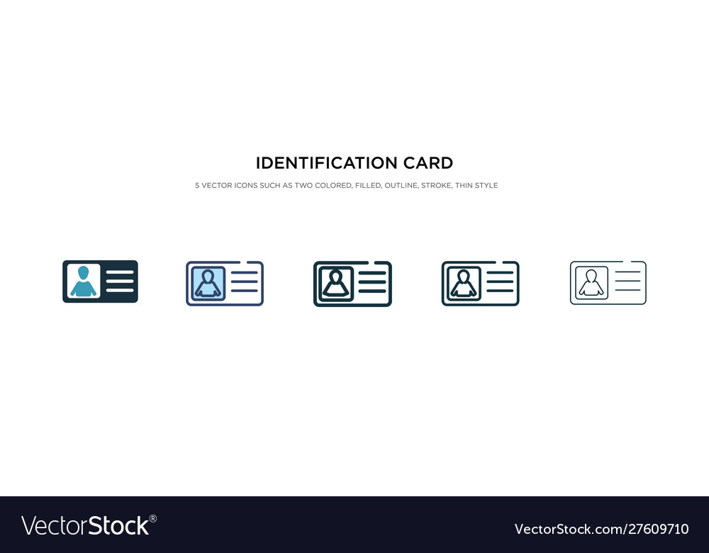 Identification card with picture icon in