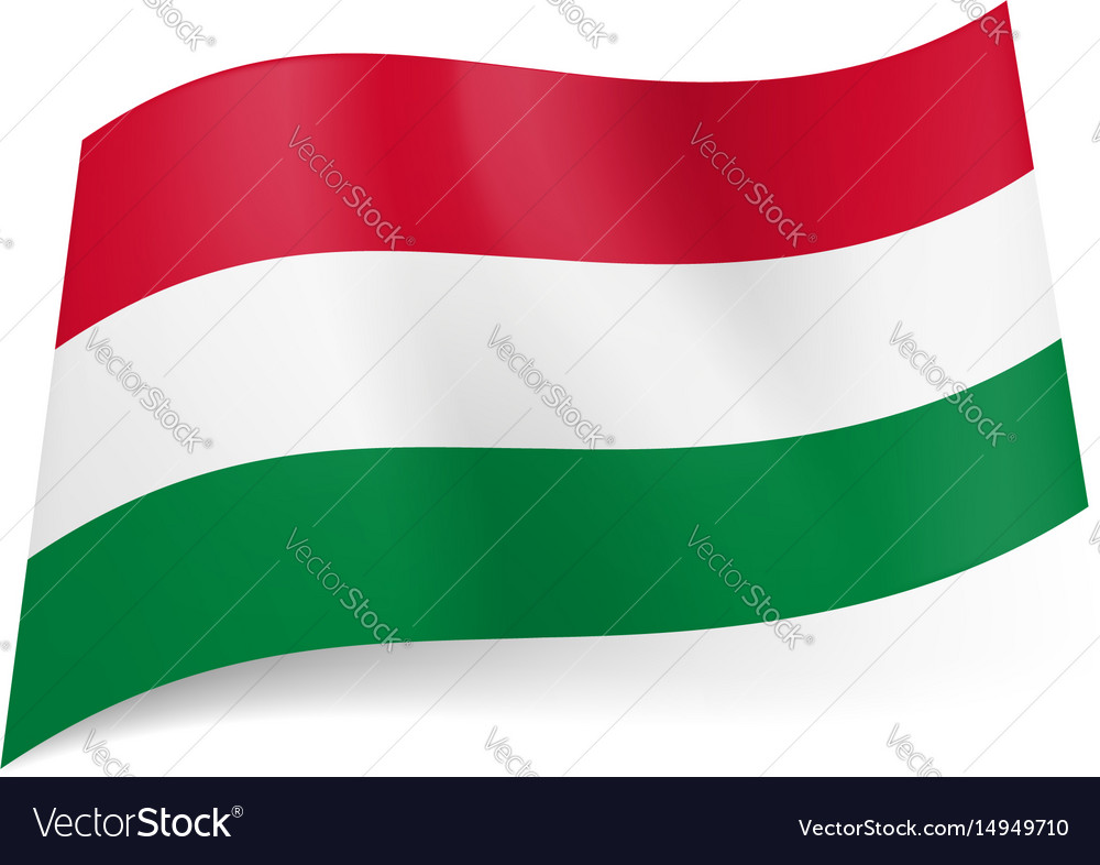 National flag of hungary red white and green