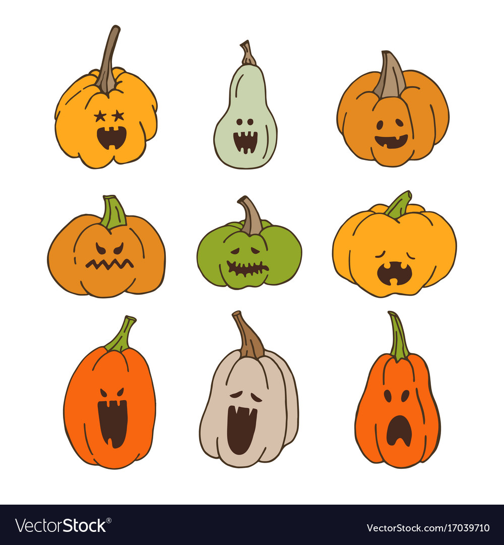 Pumpkins with spooky faces