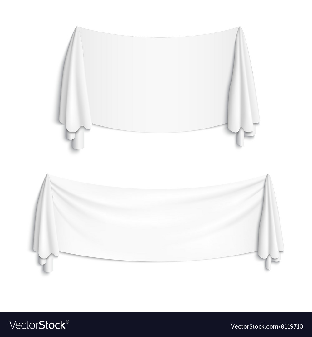White banner with folds vector image