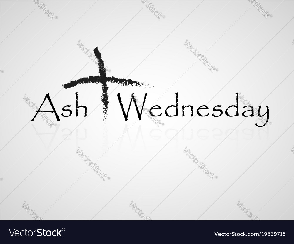 ash wednesday background royalty free vector image