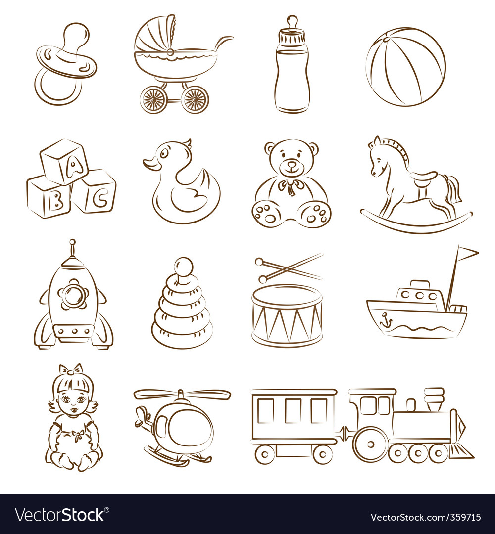 Babies toys vector image
