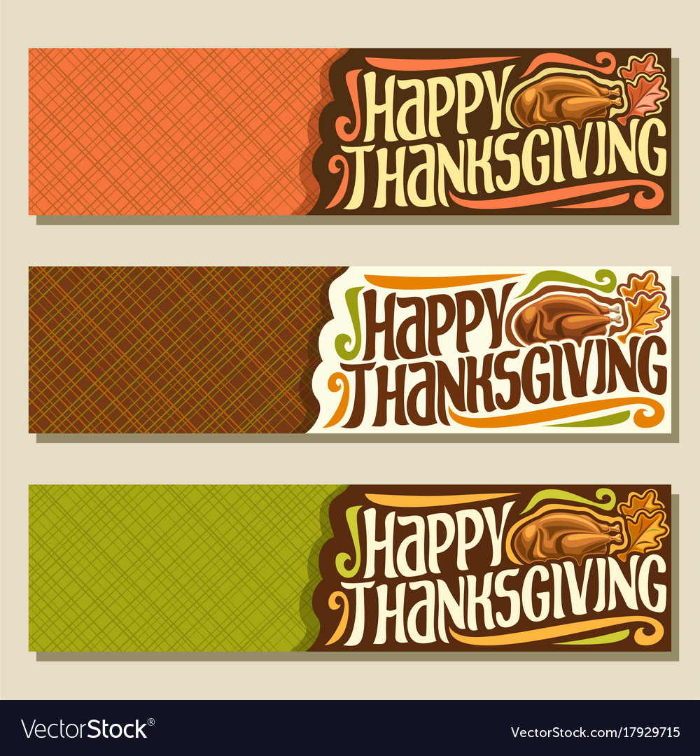 Banners for thanksgiving day