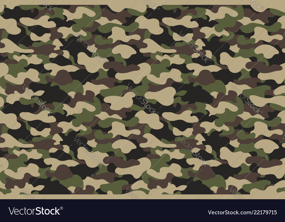 Camouflage seamless pattern military clothing