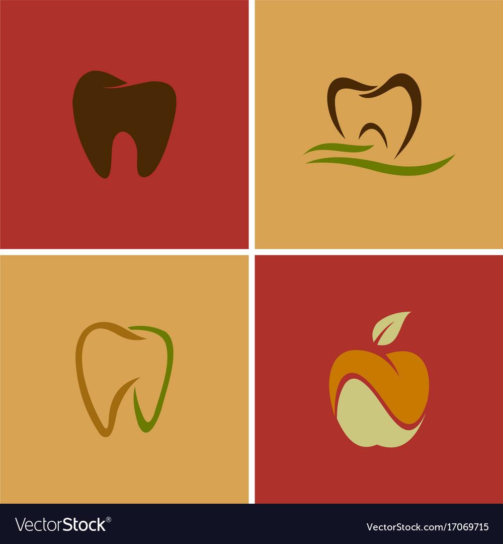 Dental Teeth Logos Royalty Free Vector Image Vectorstock