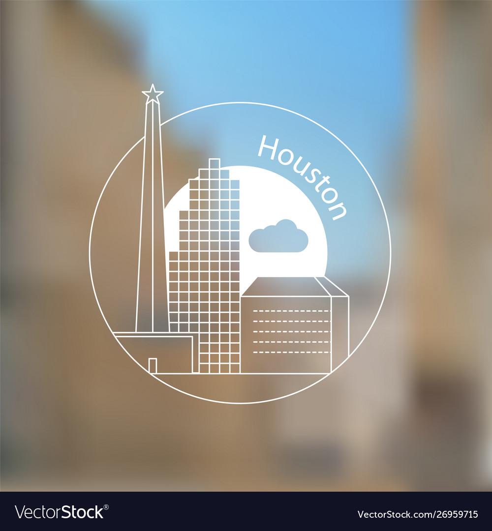Houston usa detailed silhouette