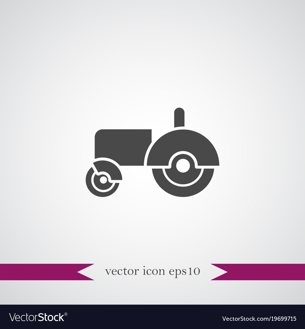 Tractor icon simple