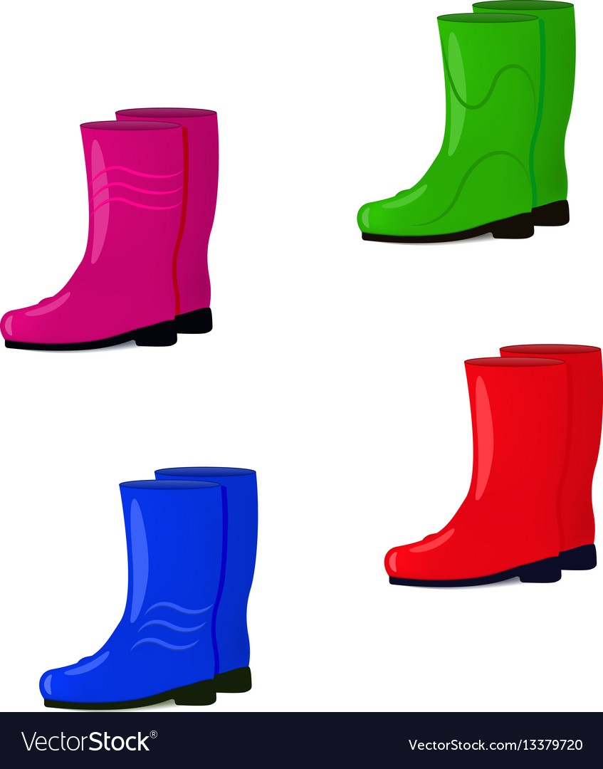 A set of rubber boots