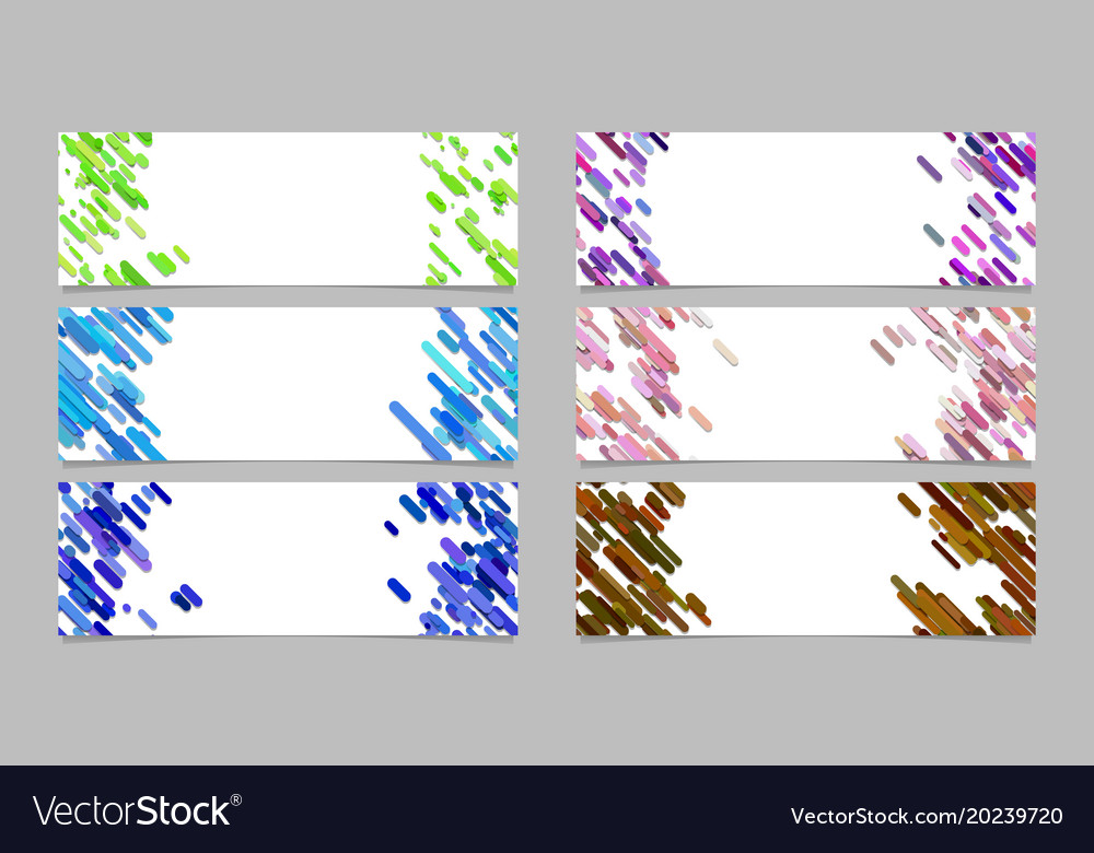 Abstract banner background template design set vector image