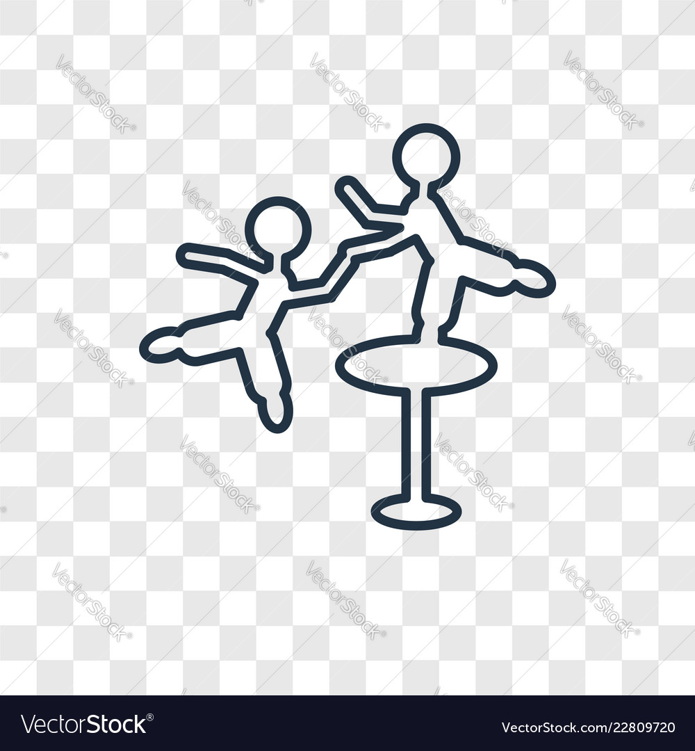 Aerialist man concept linear icon isolated on