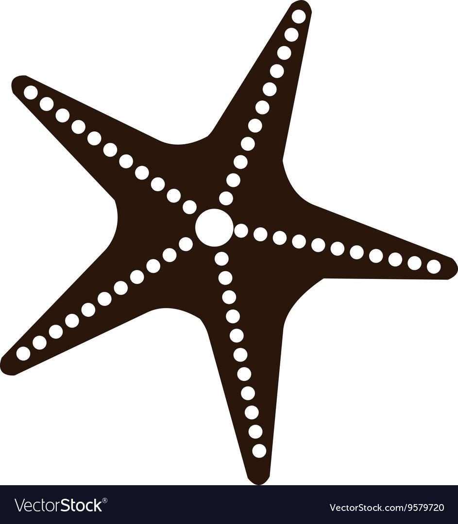 Black and white starfish graphic
