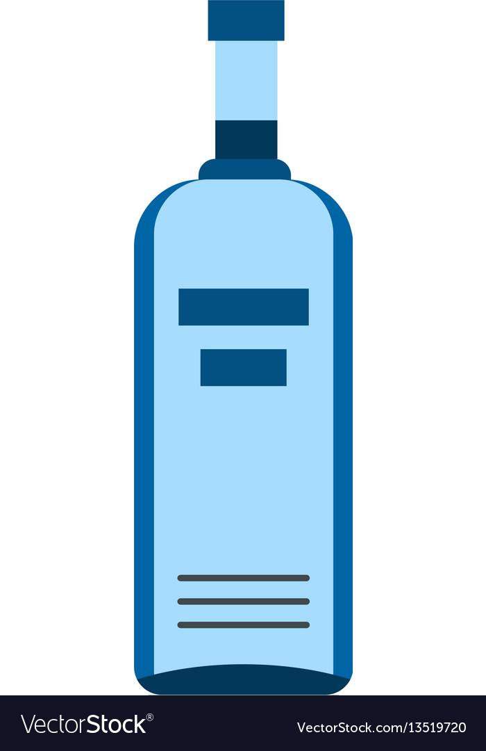 Bottle of vodka icon flat style