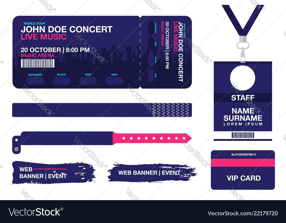Concert Ticket Bracelets Lanyards