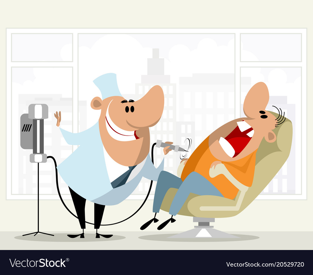 Dentist and his patient