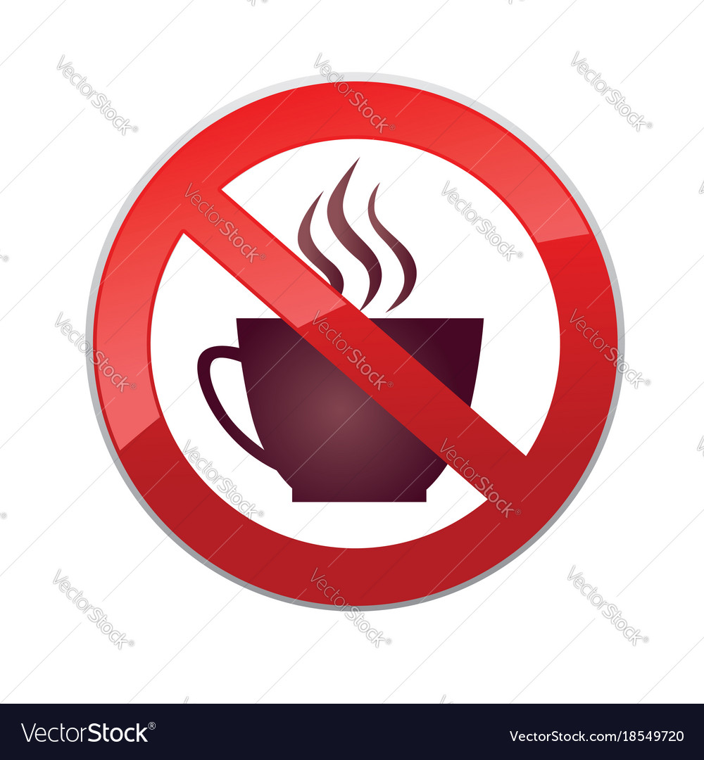 Drinks are not allowed no coffee cup icon red