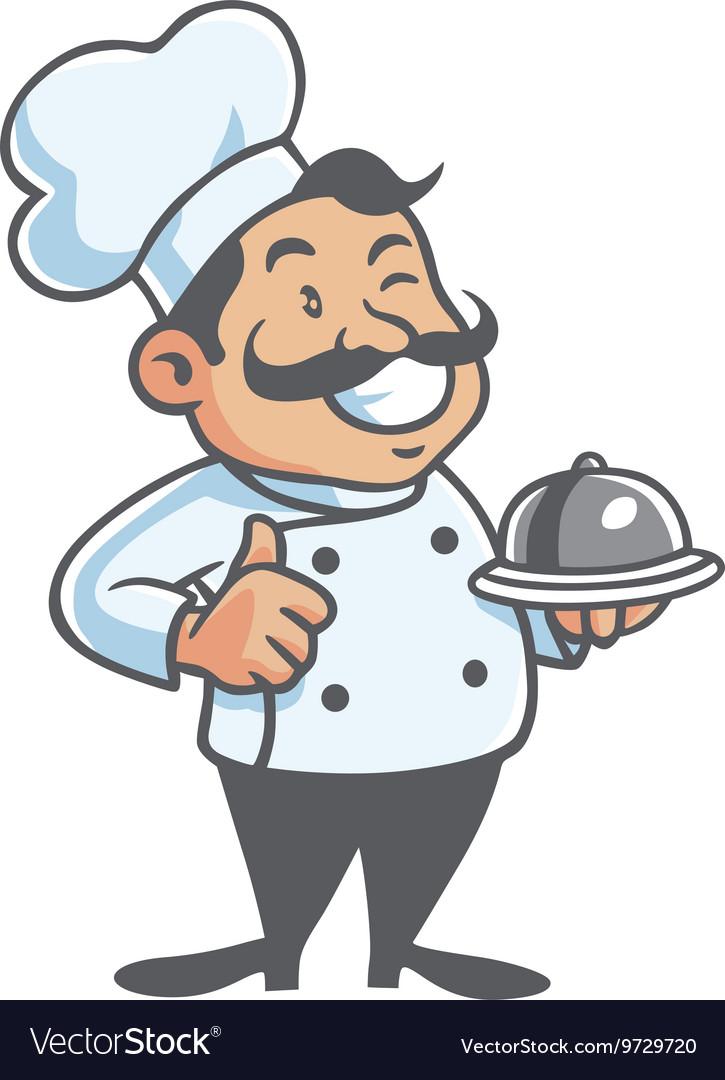 Happy Chef Cartoon Mascot Clipart