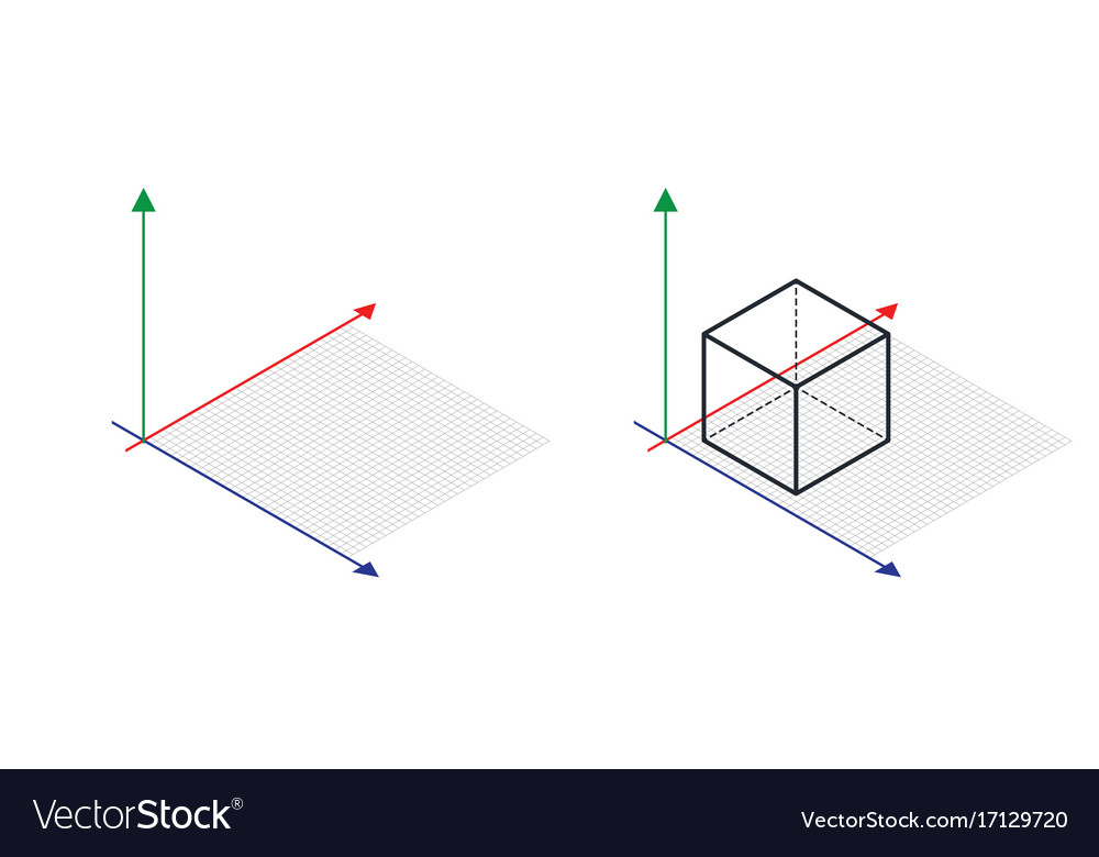Isometric drawing a thirty degreesangle is applied