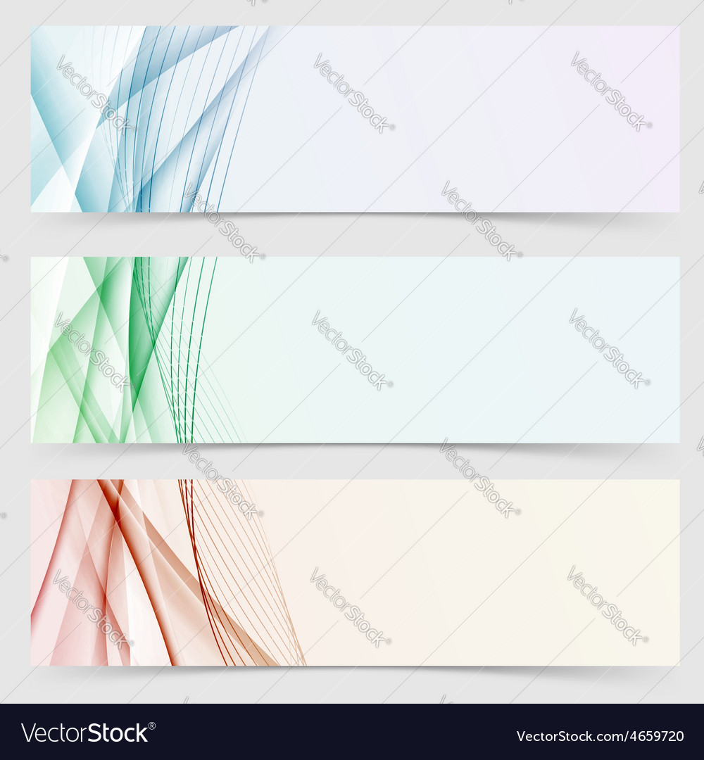 Line wave colorful header web collection