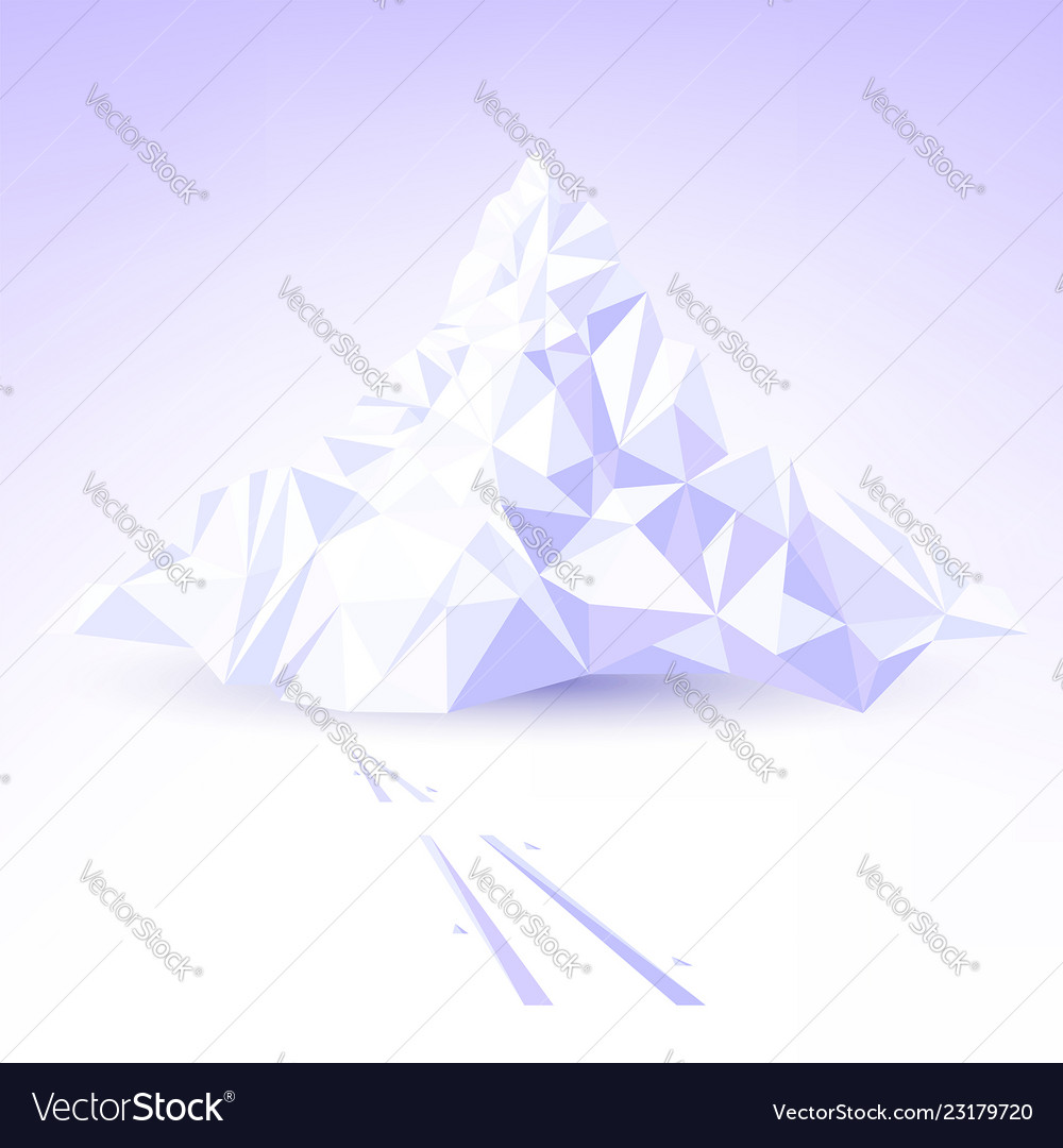 Stylized mountain for skiing