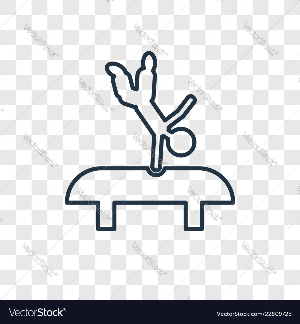 Acrobat man concept linear icon isolated on