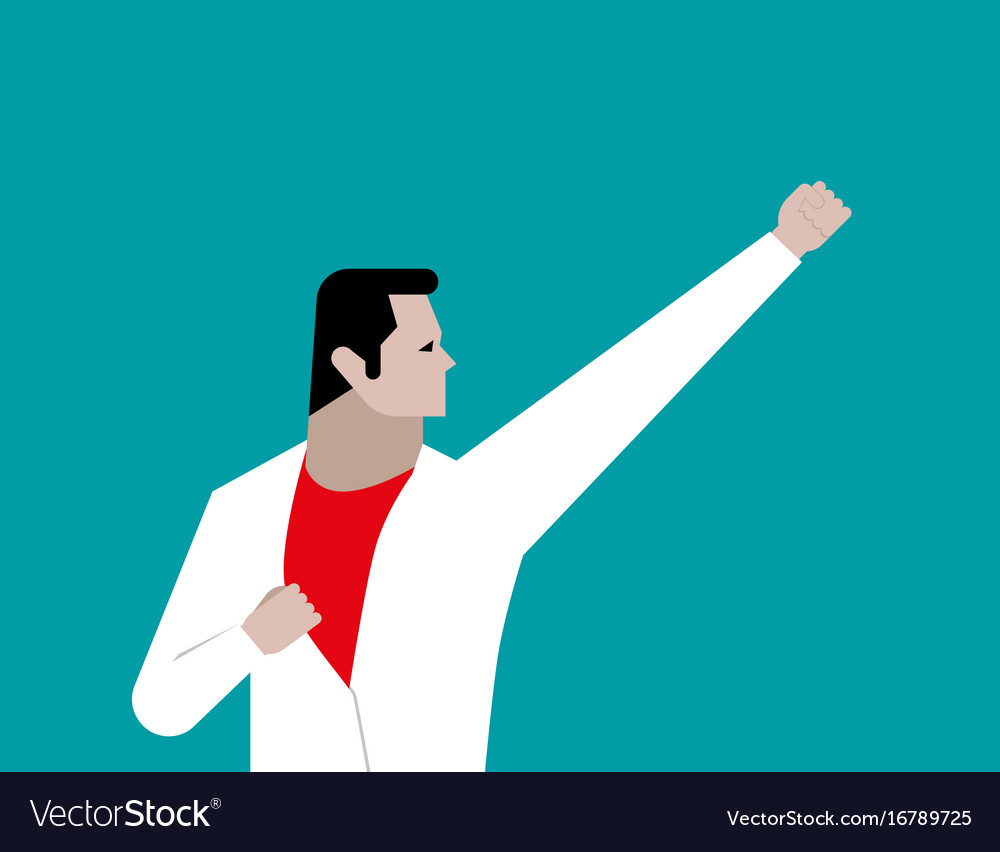 Businessman like hero concept business vector image