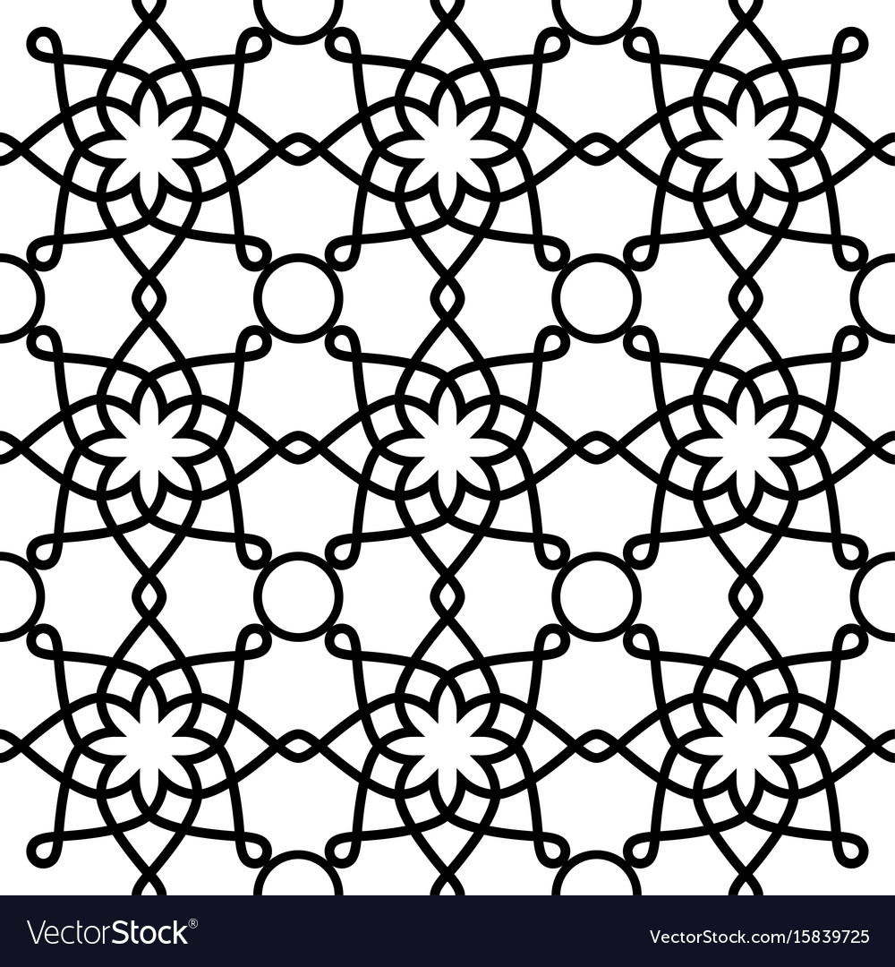 Geometric seamless pattern arabic ornament style vector image