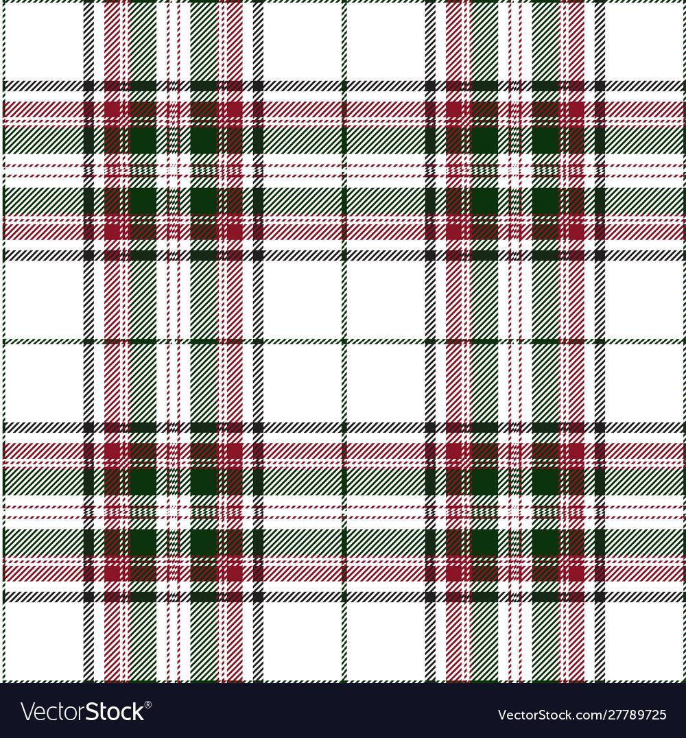 Green ane red tartan plaid scottish pattern